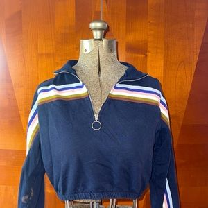 Retro Navy Blue Urban Outfitters Jacket !!